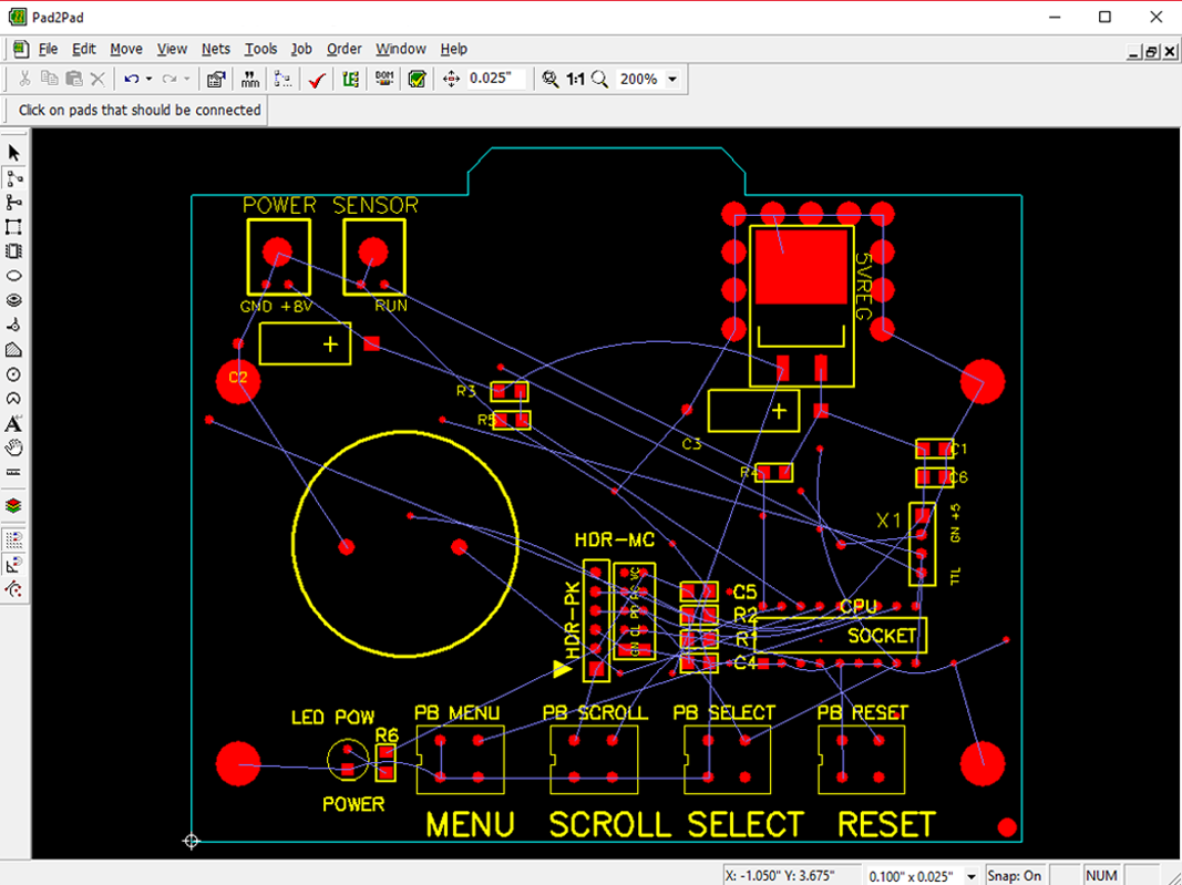 PCB design step 2 set up electrical nets