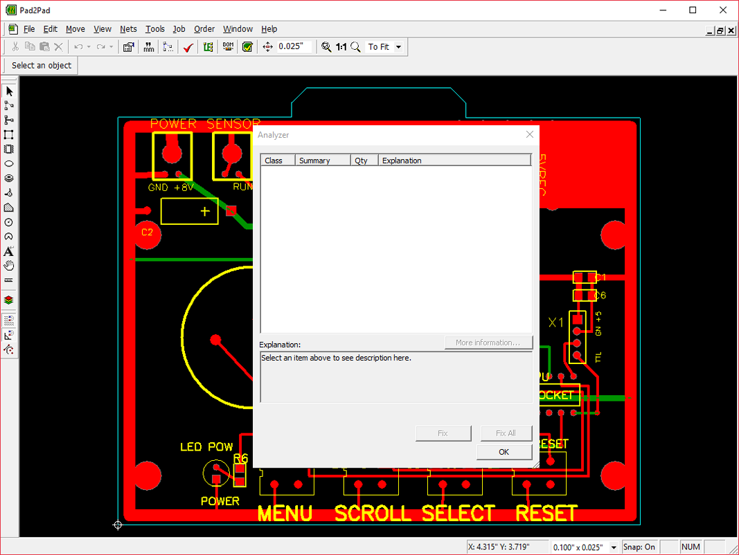 Features And How It Works Pad2pad Pcb Manufacturer Step 2 Select A Circuit Board Design 4 Analyzer Tool For Error Check